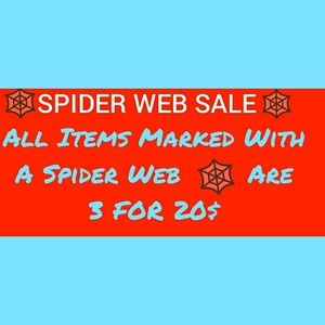 🕸️ 3 For 20$ 🕸️ SPIDER WEB